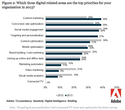 Top Digital Marketing Activities 2013